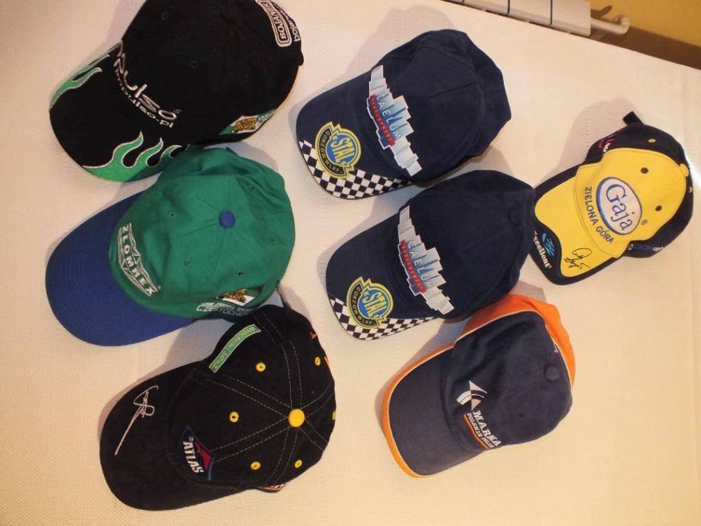 Kolekcja czapek żużlowców -  lata 2002-2017