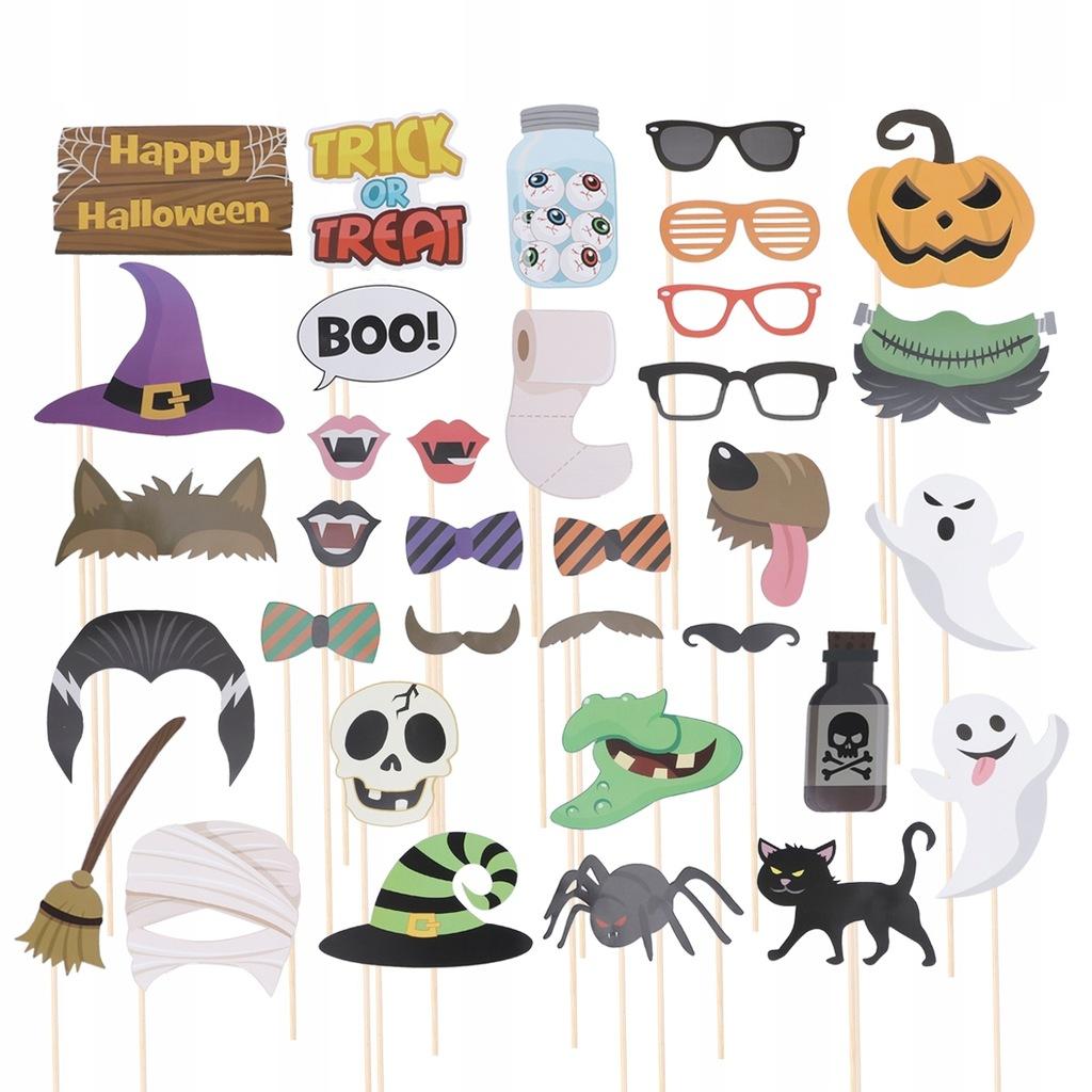 35 sztuk Fotobudka na Halloween Rekwizyty Śmieszne