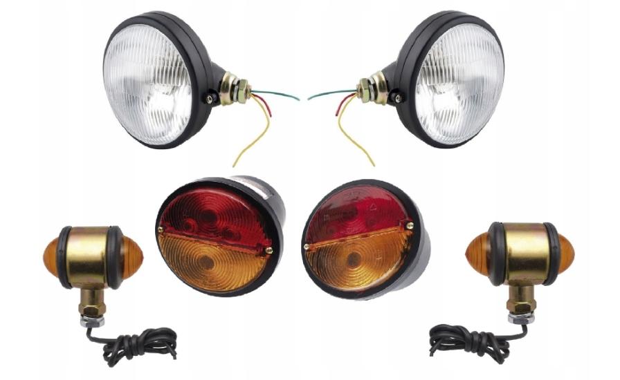Lampy C330 METALOWE Przód, tył, kierunkowskazy