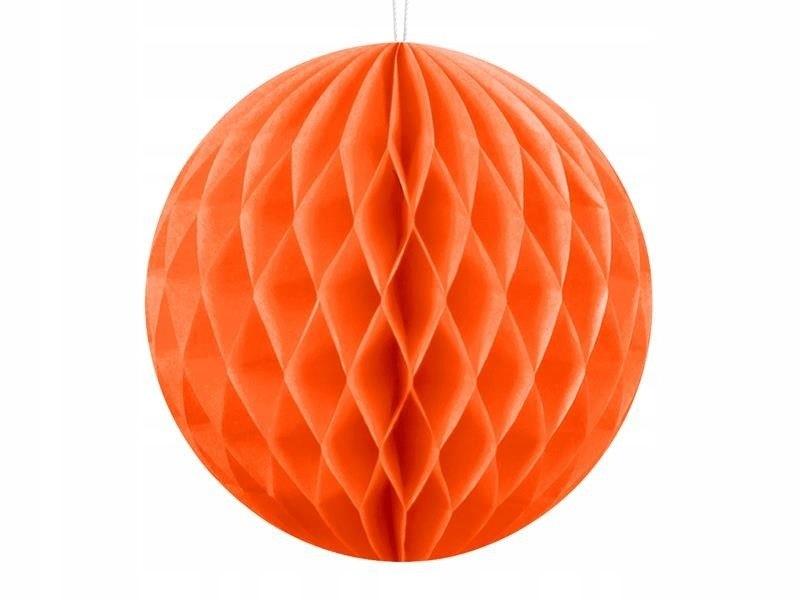 Kula bibułowa, pomarańcz, 10cm
