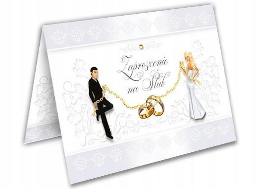 Zaproszenie na Ślub Para Młoda Ślubne Weselne Mega