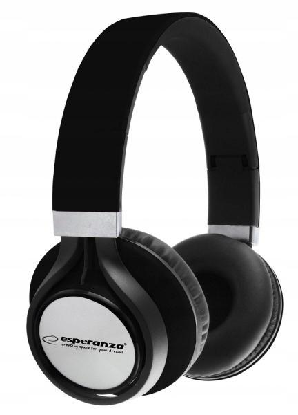 ESPERANZA Słuchawki audio FREESTYLE czarne EH159K