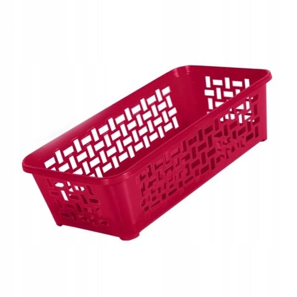 Koszyk ażurowy DOMINO 30x20 cm do pralni łazienki