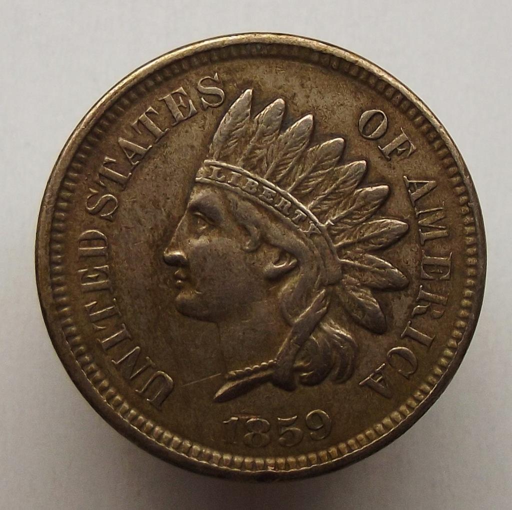 1859 r. - 1 cent