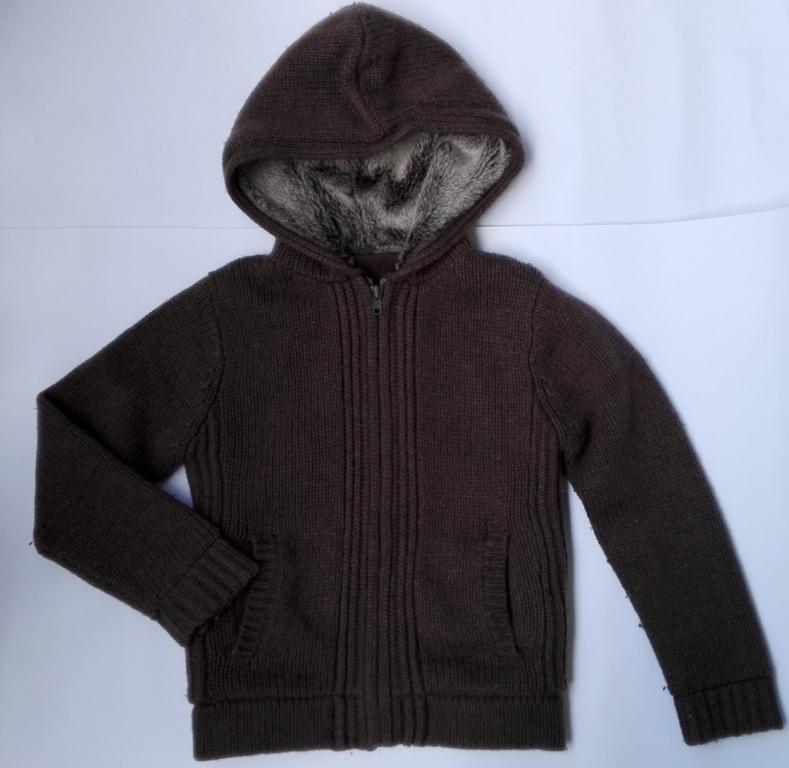 Gruby sweterek - brązowy