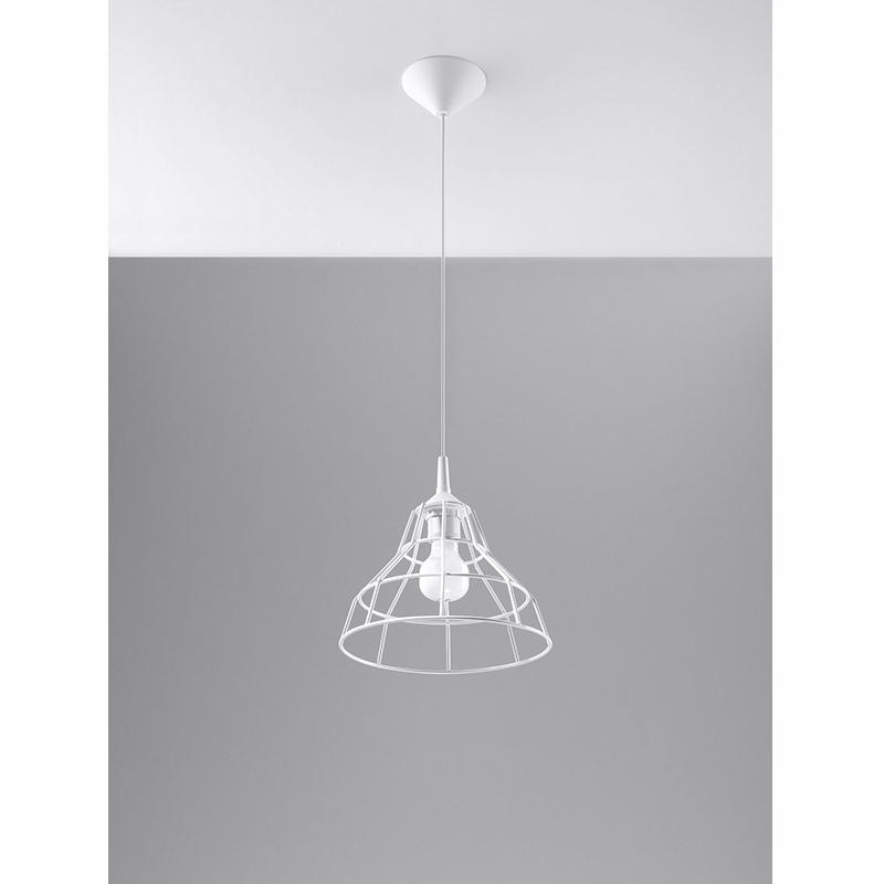 ANATA Biała lampa wisząca SL.0145 Sollux