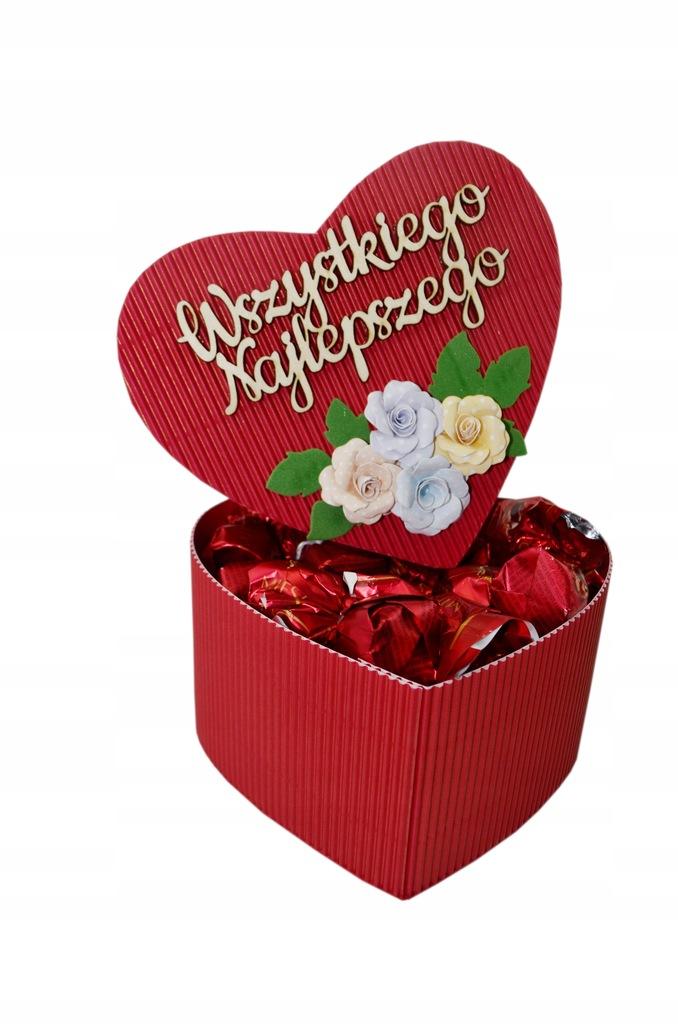 Kosz Prezentowy Zestaw Serce Walentynki Wiśnia Box