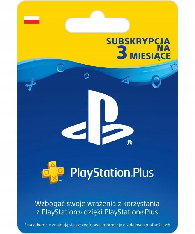 Sony PlayStation Plus 3 miesiące PSN ( 90 dni )