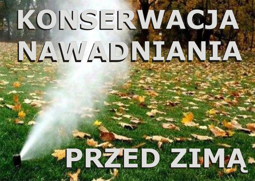 Konserwacja, przedmuchanie systemu nawadniania.