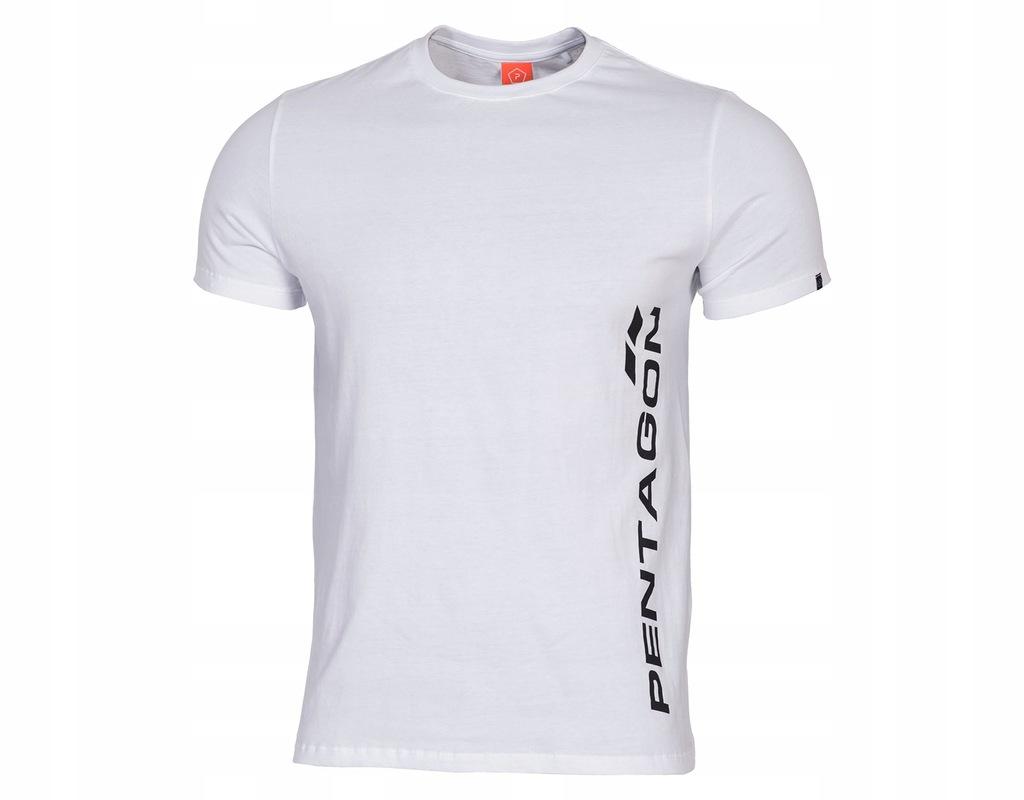 Koszulka T-shirt Pentagon Vertical White 4XL
