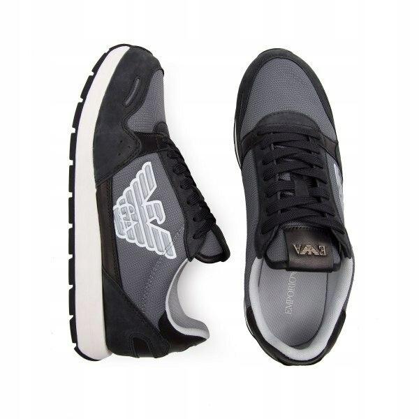 EMPORIO ARMANI markowe włoskie sneakersy buty NERO