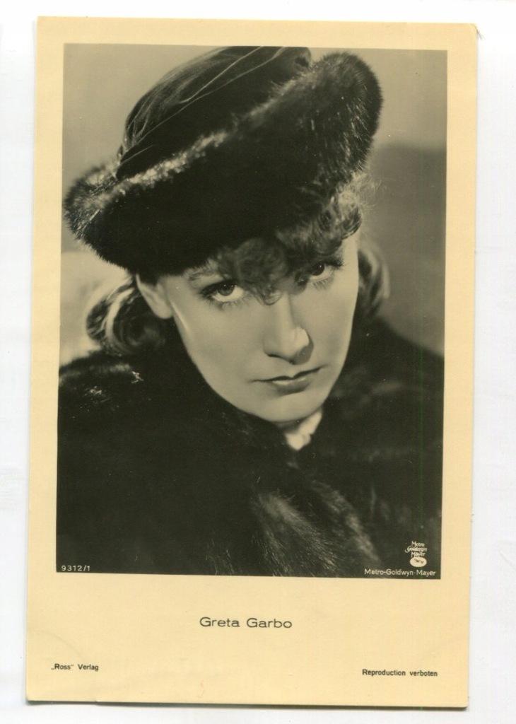 Greta Garbo Kino Film Aktorka Foto Pocztówka 16