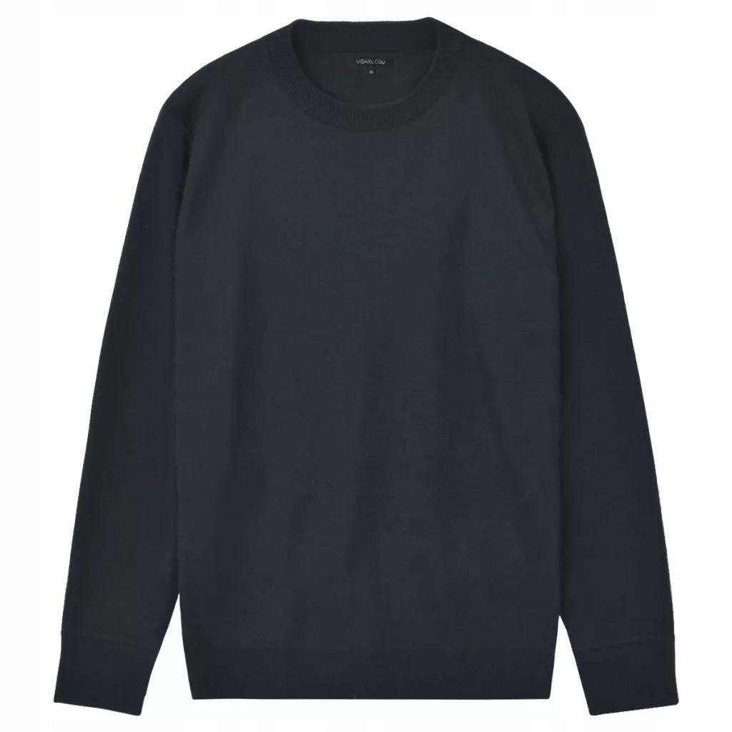 Sweter Męski Okrągły Dekolt Navy Rozmiar XXL