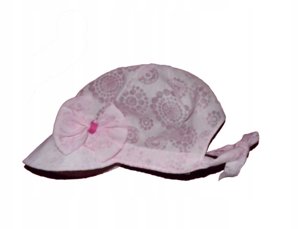 kapelusz jasny róż 80-86 stan bdb