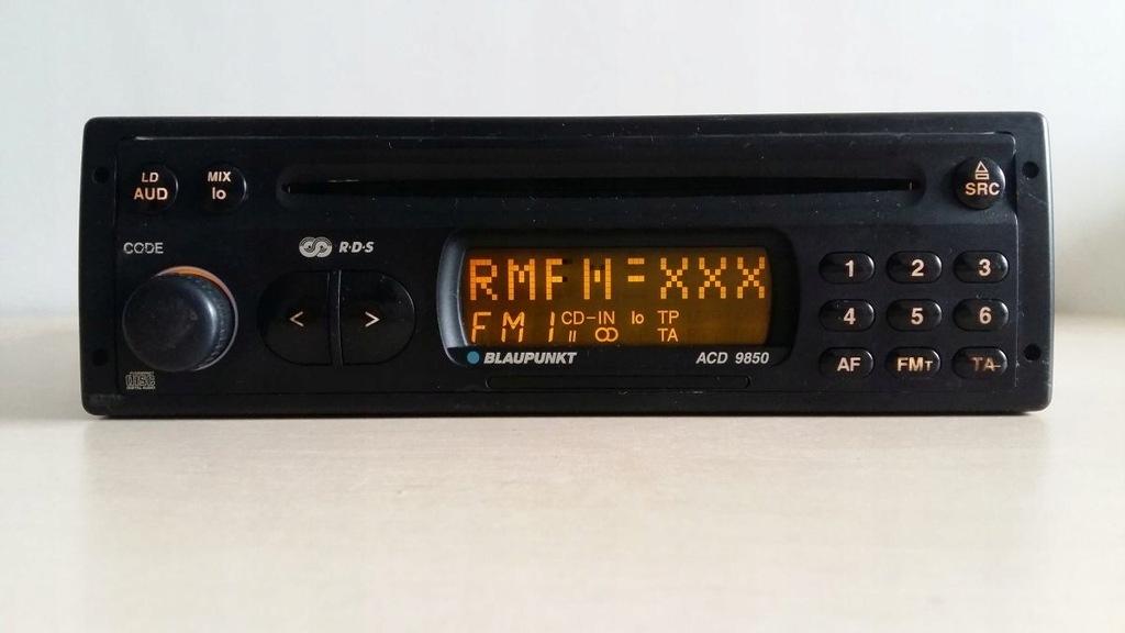 RADIO BLAUPUNKT CD ACD 9850 MERCEDES W124 190 W123