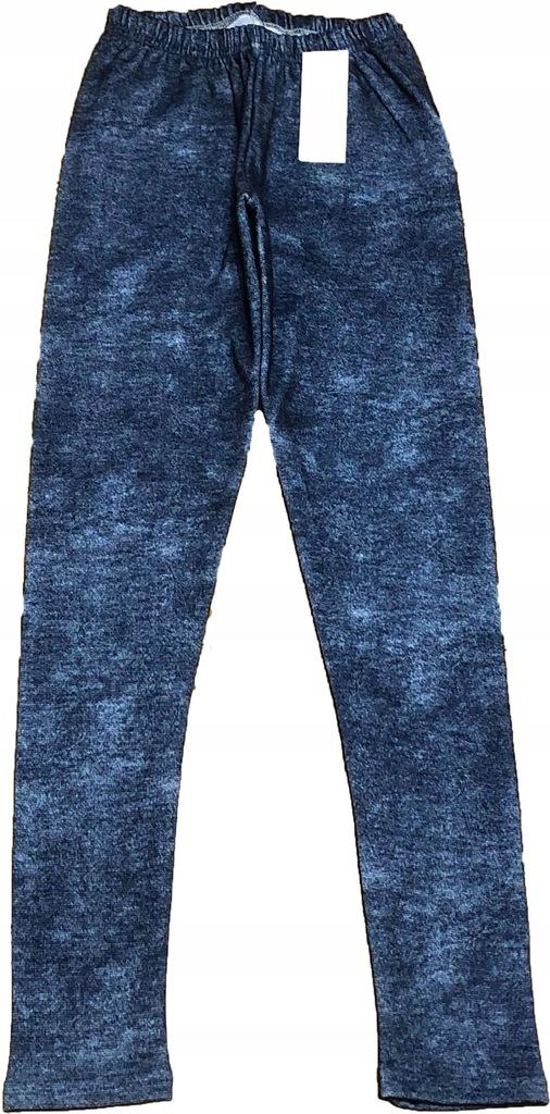 Legginsy ocieplane bają imitacja jeansu r.158 ni/m