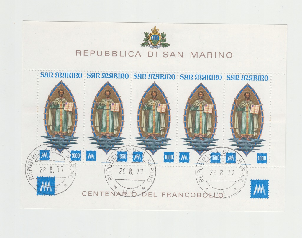 San Marino1987 M Ark 1147 kas okol + karta al