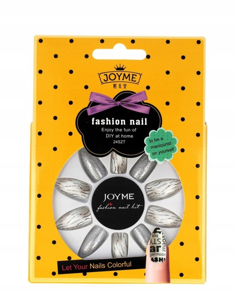DONEGAL JOYME Fashion Nail Sztuczne paznokcie z kl