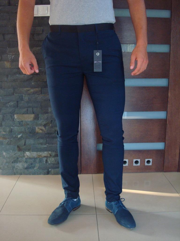 NOWE wizytowe spodnie slim fit ONLY&SONS 52/34
