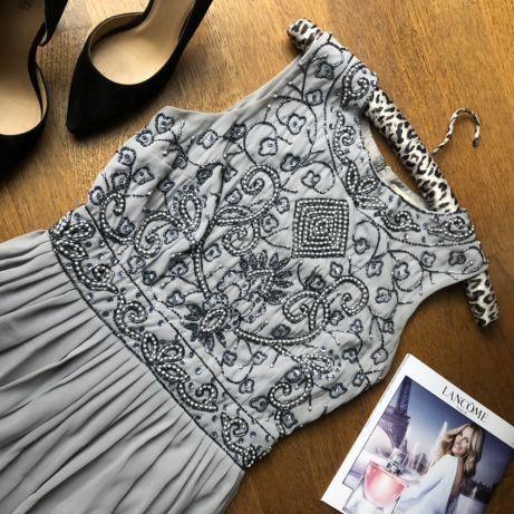 Lace Beads ZARA SUKIENKA cekiny koraliki suknia ML