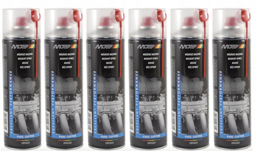 Smar miedziowy miedziany MOTIP spray 500ml 6szt