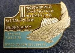 Odznaka wędkarska PZW Spartakiada Metalowców 78