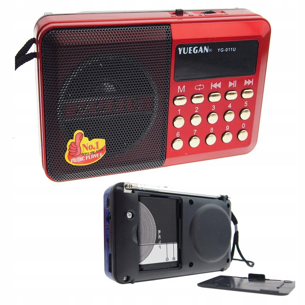 Radio kieszonkowe z AKUMULATOREM MP3 USB SD BL5C
