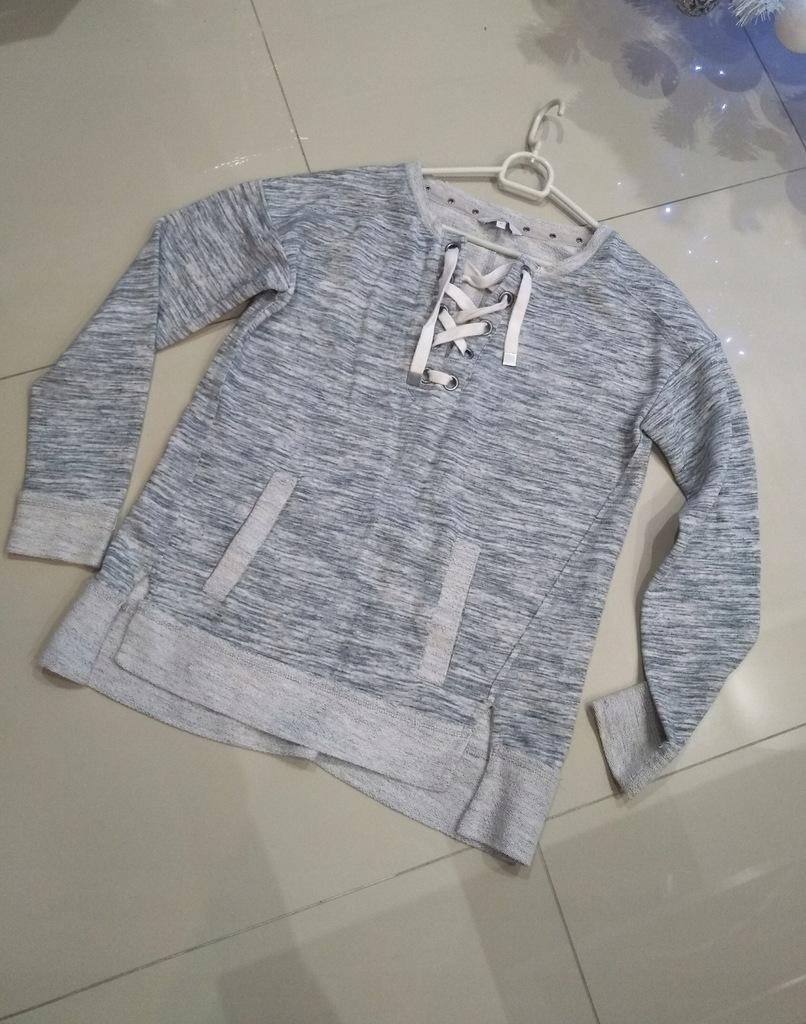 Bluza sweter troczki kieszenie kangurka Next 12