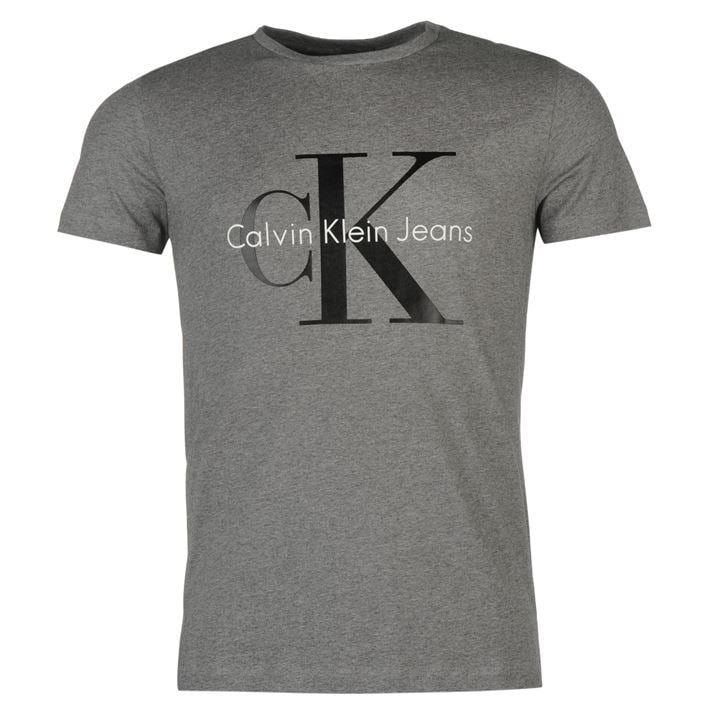 KOSZULKA T-SHIRT CALVIN KLEIN JEANS Szara XL