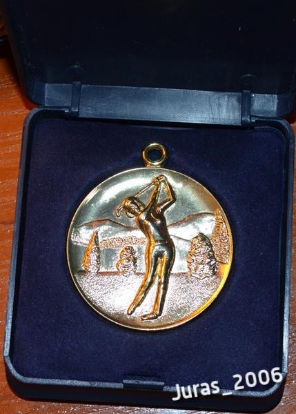Piękny medal GOLF kobieta women w etui Polecam!
