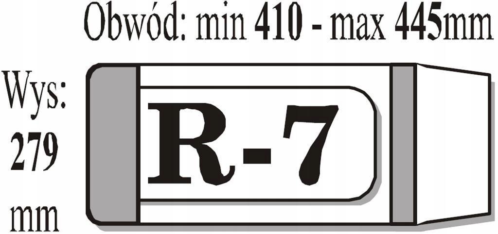 Okładka książkowa regulowana R7 (50szt) IKS
