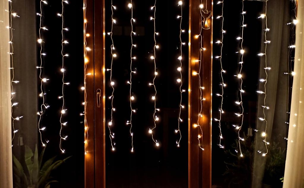 Kurtyna Swietlna 204 Led Lampki Zewnetrzne Timer 9798943158 Oficjalne Archiwum Allegro