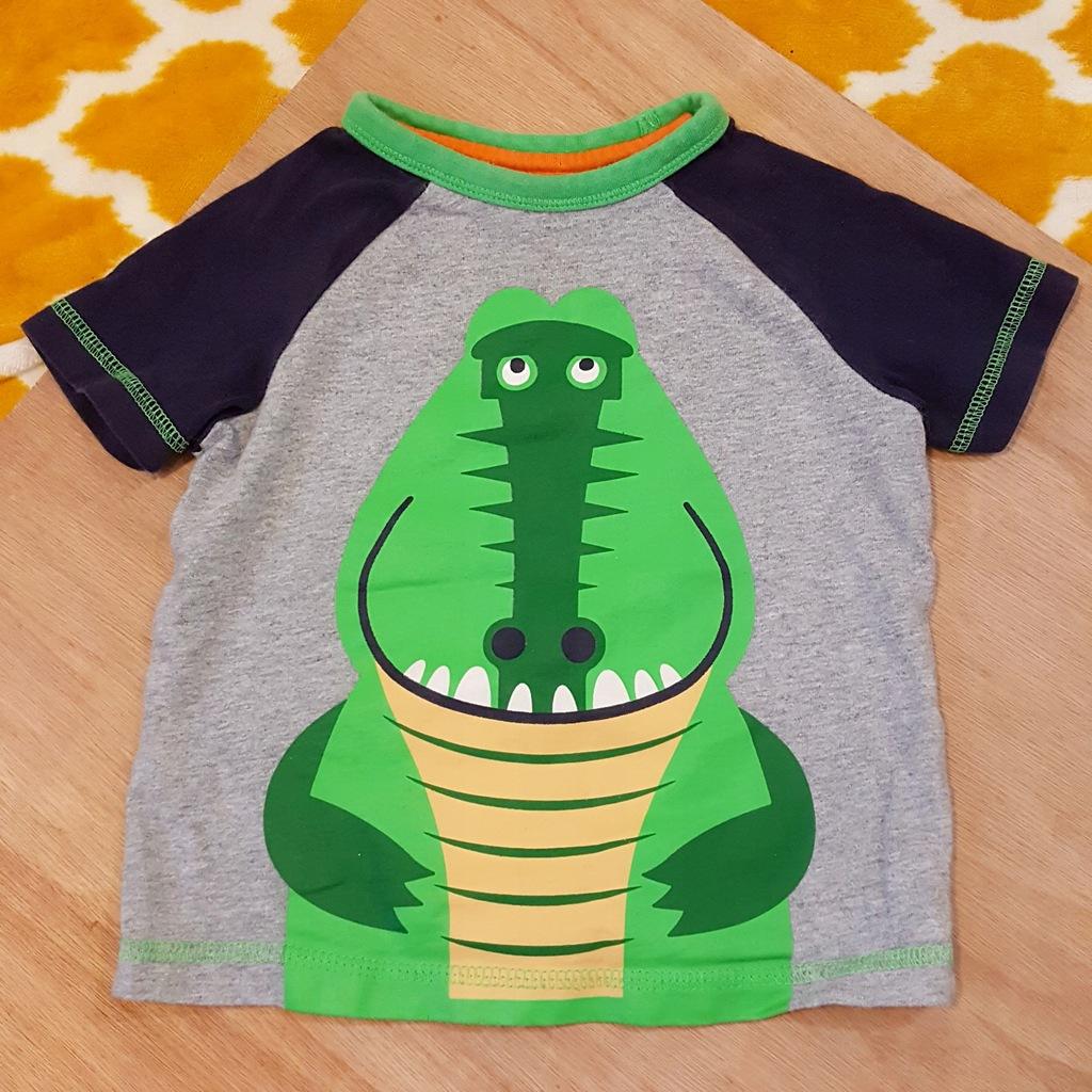 TU bawełniana koszulka z aligatorem 12-18 m 80-86