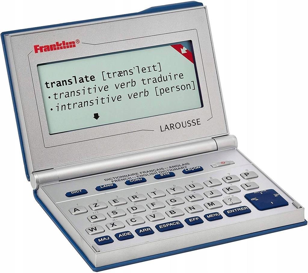 TRANSLATOR FRANKLIN LAROUSSE ANGIELSKI FRANCUSKI