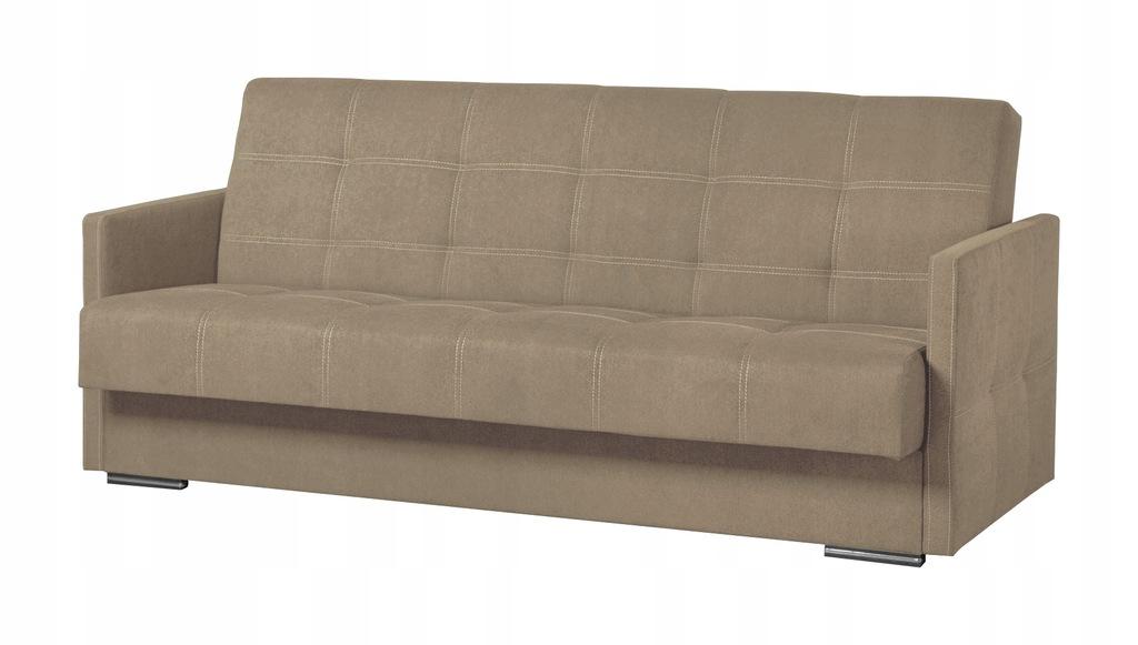 Wersalka MINI kanapa sofa rozkładana beżowa RIBES