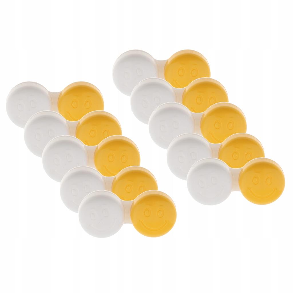 10 sztuk Etui na soczewki kontaktowe - Żółty