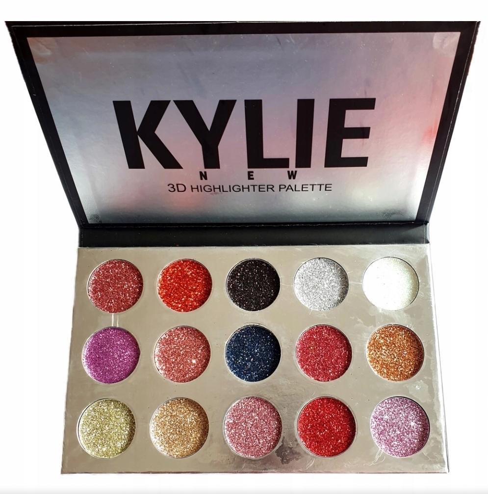 Kylie Paletka Cieni Cien Do Oczu Brokat 15 Kolorow 8598730693 Oficjalne Archiwum Allegro