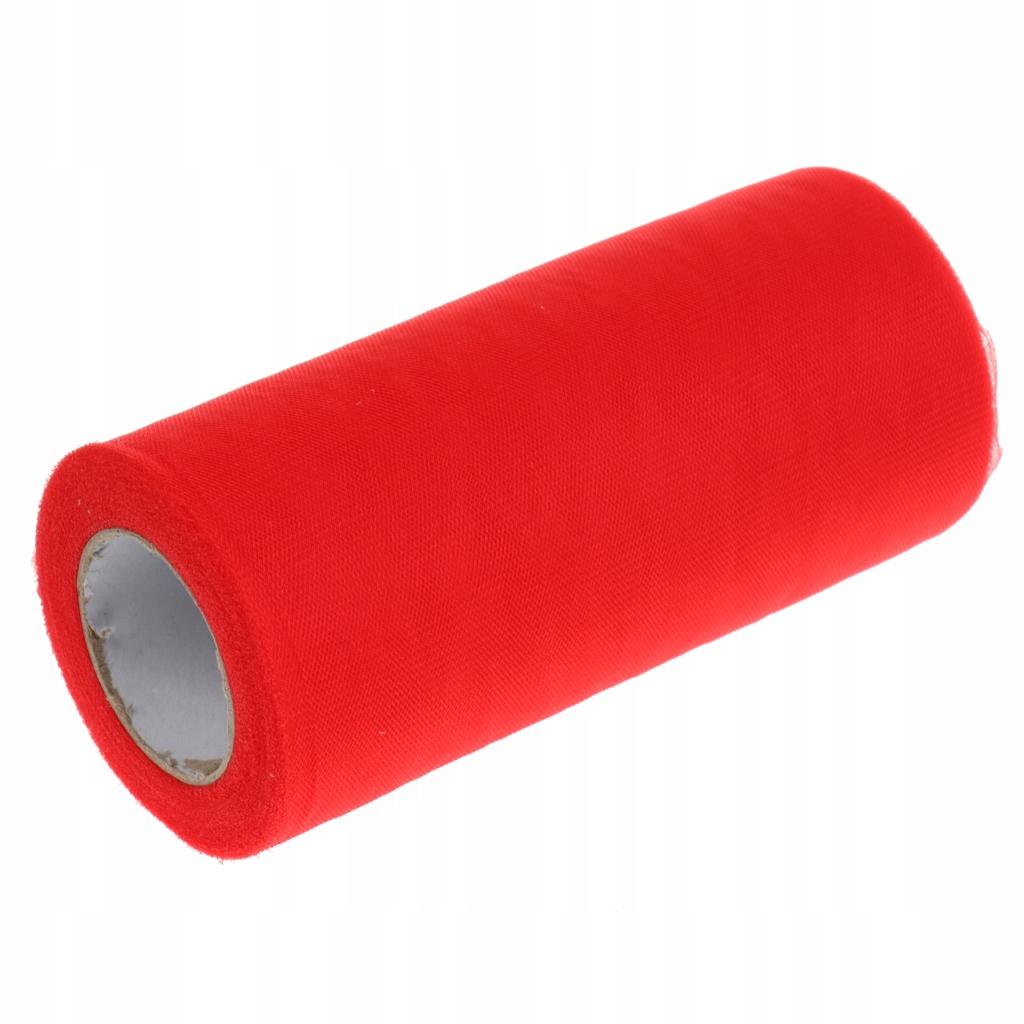 Tiulowa szpula z tkaniny - Czerwony