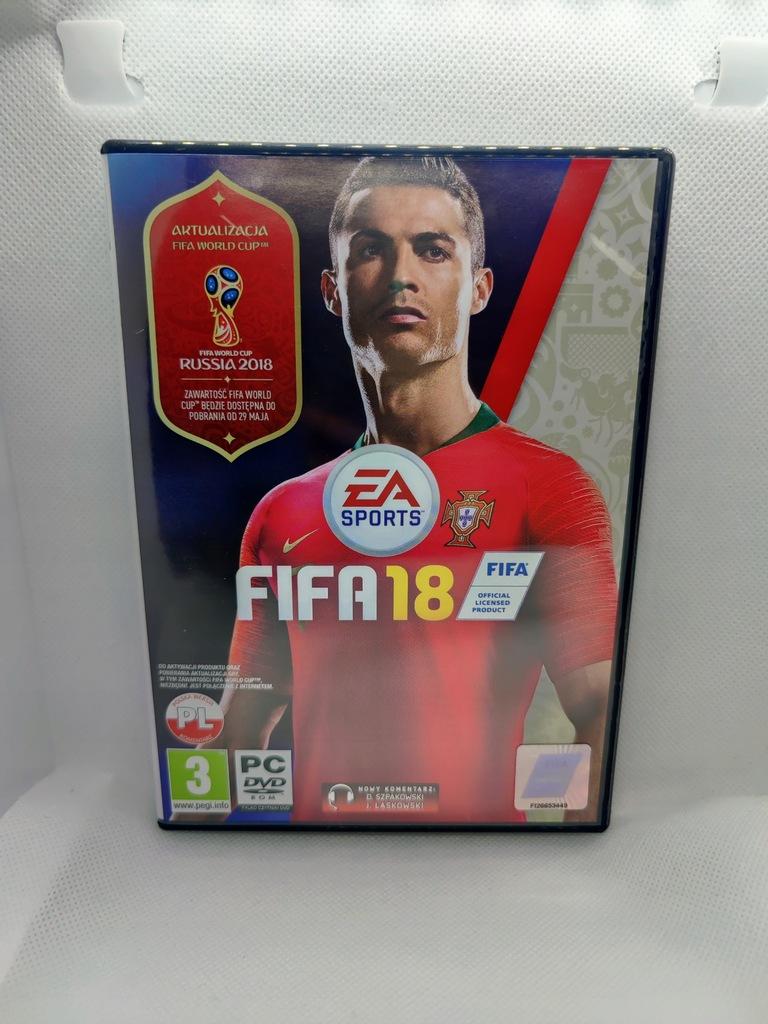 Pudełko FIFA 18 z pytami język PL/ENG (PC)