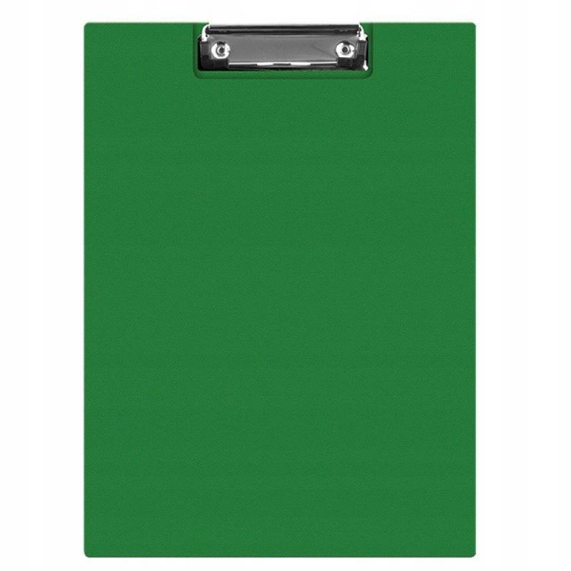 Clipboard teczka PVC A5 zielony podkład z klipem