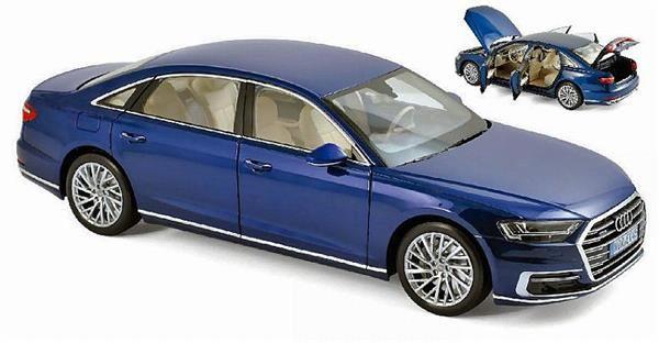 Norev Audi A8 L 2017 Blue 1 18 188365 7867564902 Oficjalne Archiwum Allegro