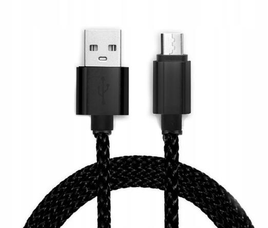 KABEL MICRO USB SMARTFON PLECIONY KOLOR 2m 2 metry