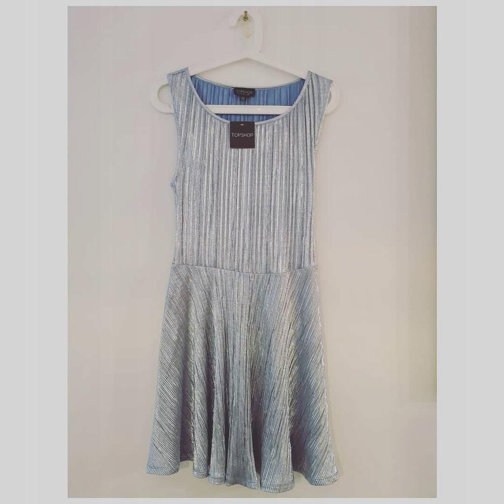 Sukienka TOPSHOP rozmiar 38 srebrna