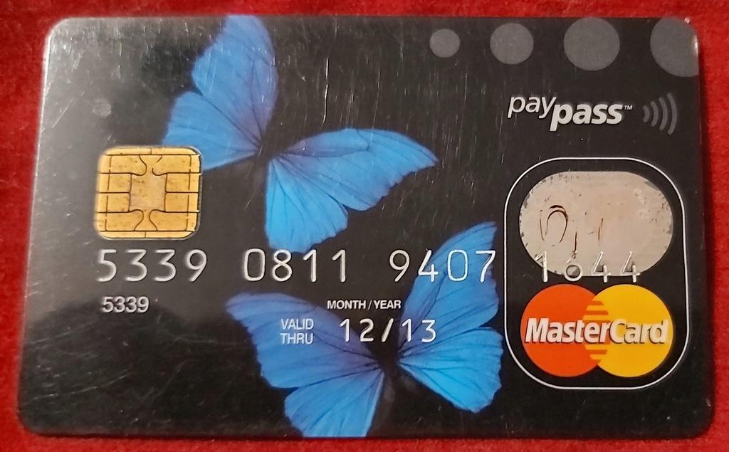 Karta MasterCard Bank Zachodni WBK paypass