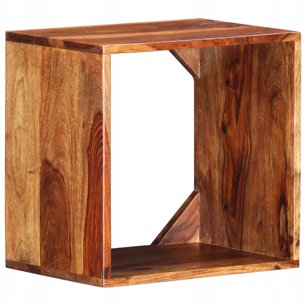 Stolik boczny, 40 x 30 x 40 cm, lite drewno sheesh
