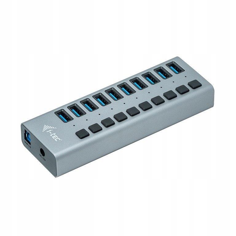 Hub USB3.0 z ładowaniem, 10 portów