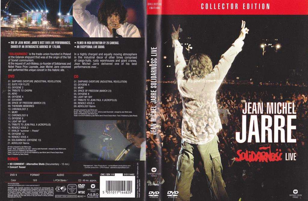 Jean Michel JARRE - Solidarność Live DVD+CD NAJTAN