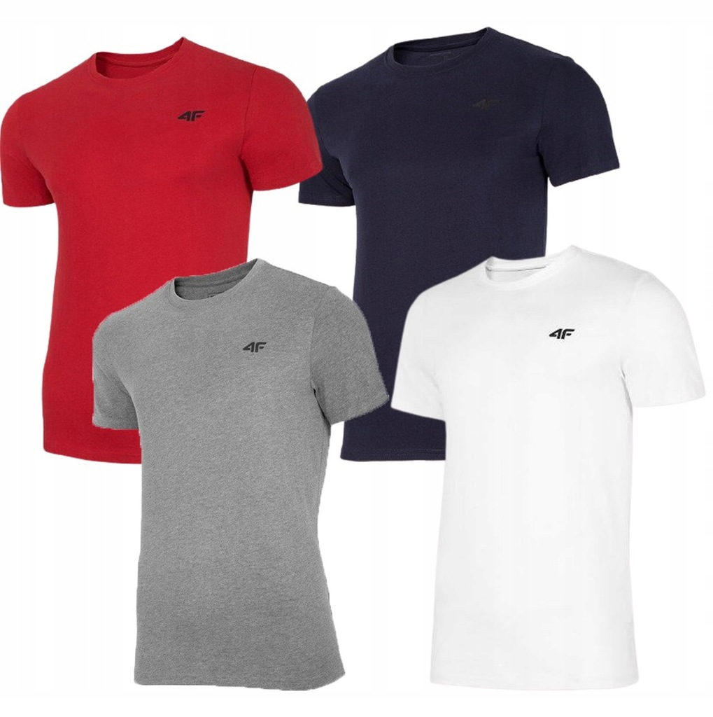 T-shirt męski 4F TSM003 4 PAK zestaw koszulek S