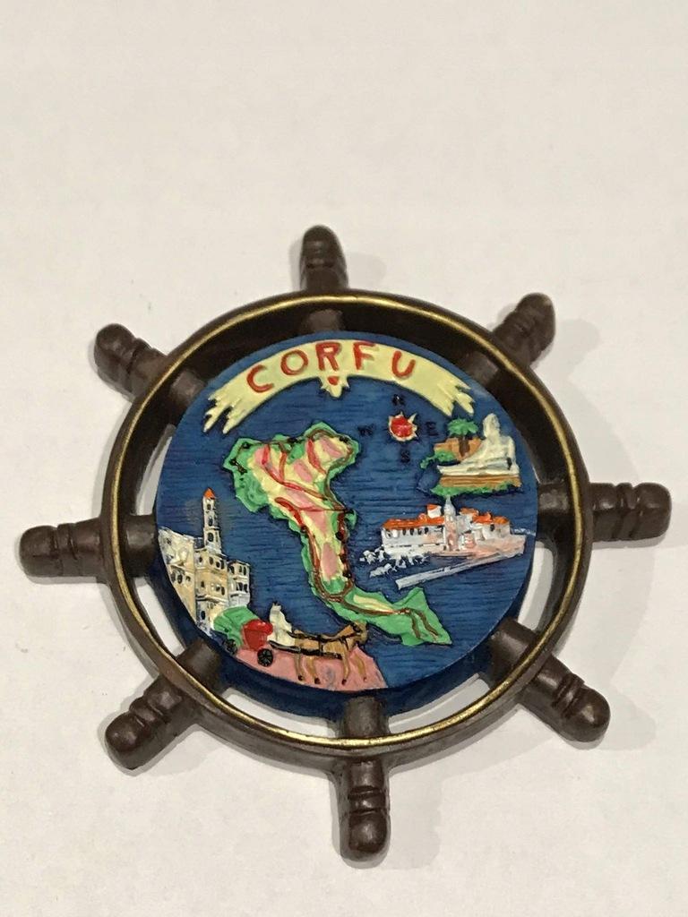 Magnes lodówkę magnez Korfu Corfu Grecja koło cudo