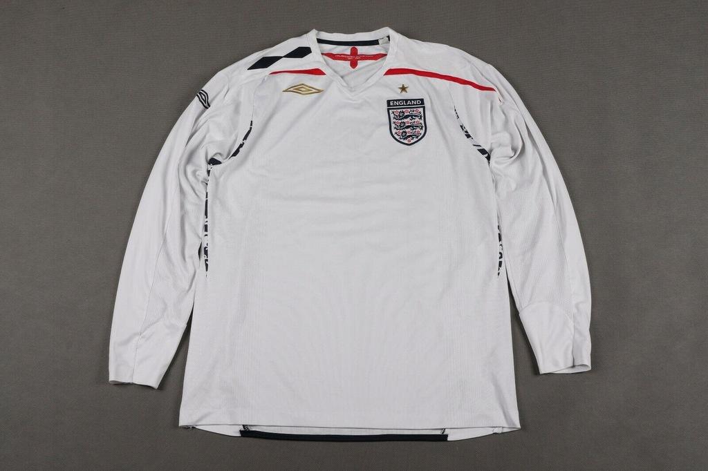 Anglia 2007/09 Koszulka Piłkarska Na Długi Rękaw L